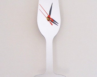 Champagne Flute Clock Mirror - 2 Sizes Available