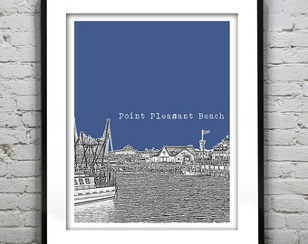 Point Pleasant Beach New Jersey Poster Print Art NJ