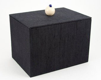 Black Recipe Box with Lid