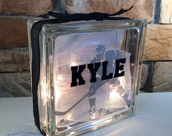 Men's Hockey GemLight, Personalized, Gifts for Hockey Players