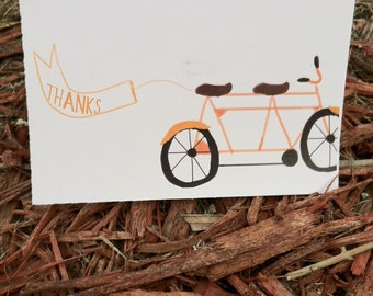 Bike  Thank you Cards- 50