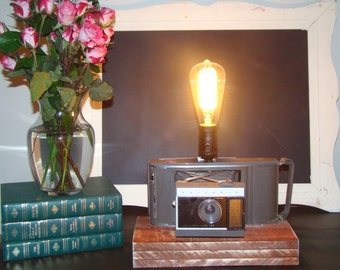 Upcycled Camera Lamp