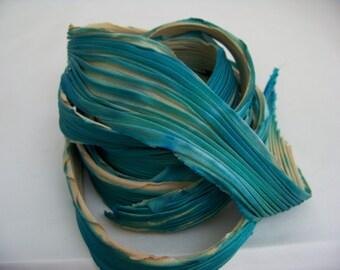 Sand and Surf Shibori Silk Ribbon/2851