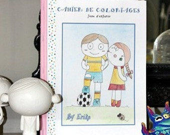 "The book of coloring ""Jeux d'enfants"" by Erika"