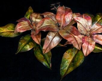 Lily copper sculpture- decorative artwork