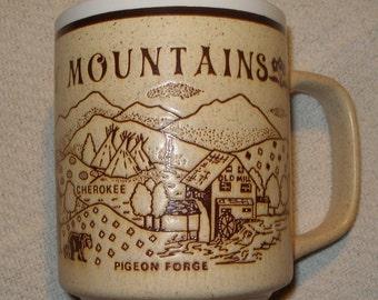 Vintage SMOKY MOUNTAINS Souvenir Cup