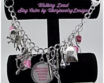 Walking Dead Bracelet Keep Calm Stand Behind Daryl