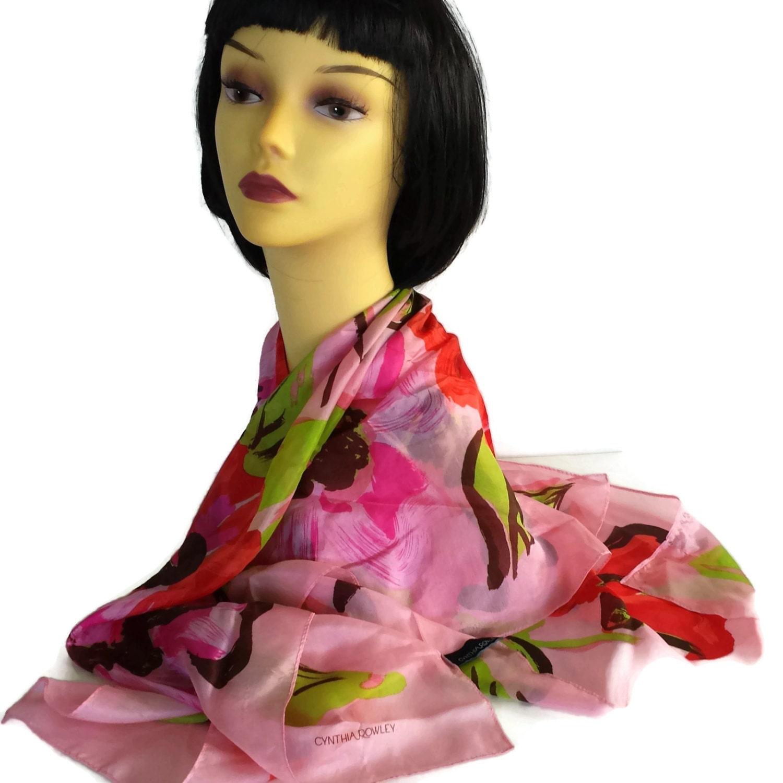 cynthia rowley vintage silk scarf floral