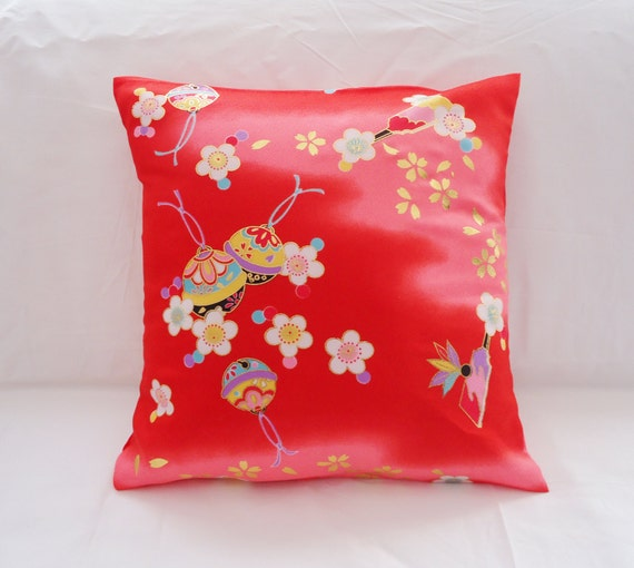Red Silk Decorative Pillows : Red Silk Pillow Cover Decorative Pillow Cover by RebeccaAndRobin