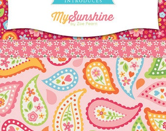 My Sunshine FREE SHIPPING Fat Quarter Bundle by Zoe Pearn for Riley Blake