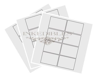Inkedibles premium Frosting Sheets 24 sheets: Precut 2.5 inch x 3 inch rectangular cards (8 cards per page)