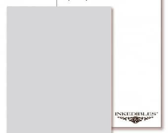 Inkedibles Premium Frosting ChromaSheets: 5 pack Letter Size (Ivory)