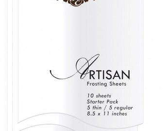 Inkedibles Artisan Frosting Sheets - 10 Sheet Starter Pack (5 each thin and regular)