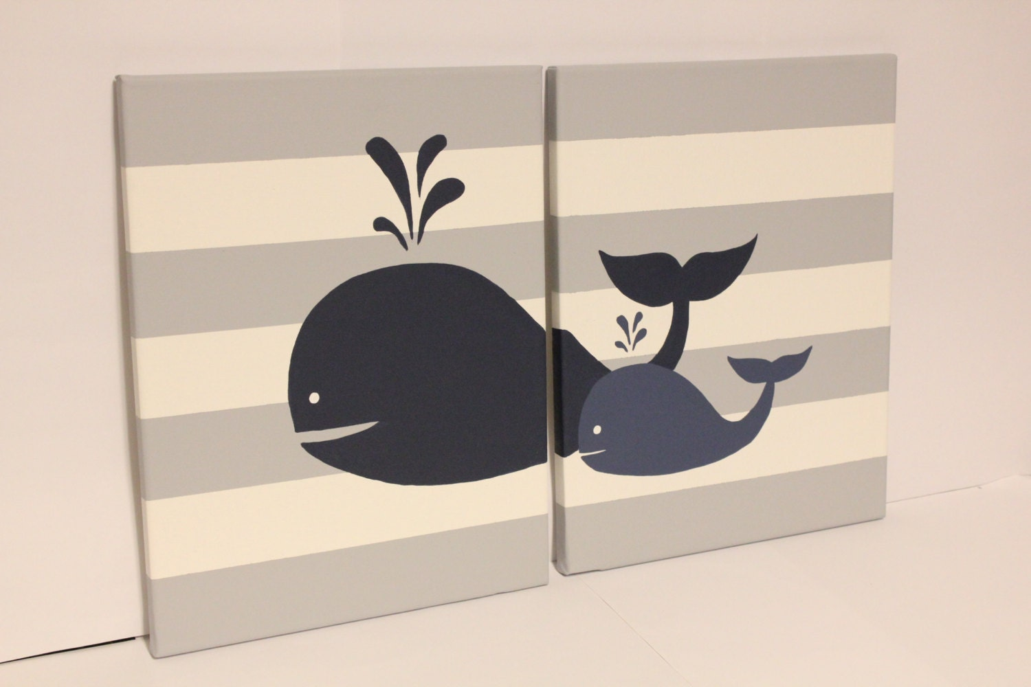 Whale Nursery Wall Art Baby Boy Girl Whale Decor Baby Boy Girl