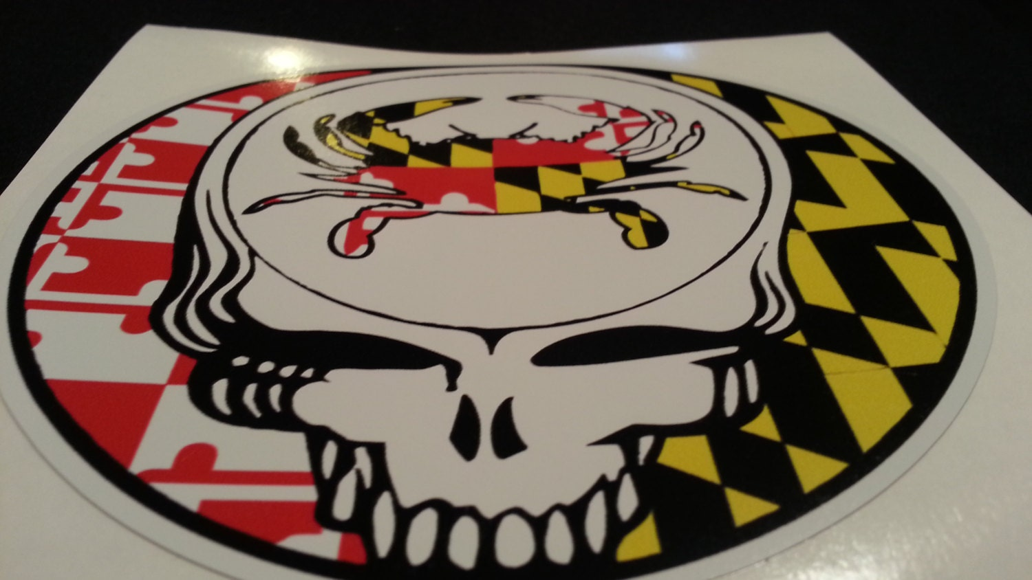 Steal Your State Maryland Crab State Flag Grateful Dead Style