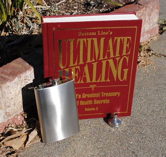 Hollow Book Safe & Secret Flask - Ultimate Healing - Extra Storage