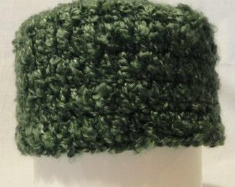 Women's Crochet Green Varigated Beanie