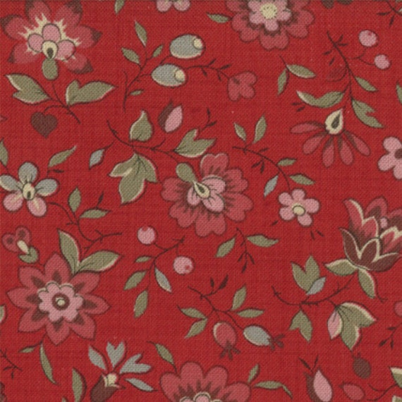 La belle fleur rouge moda fabrics french general fabrics for La belle fleur