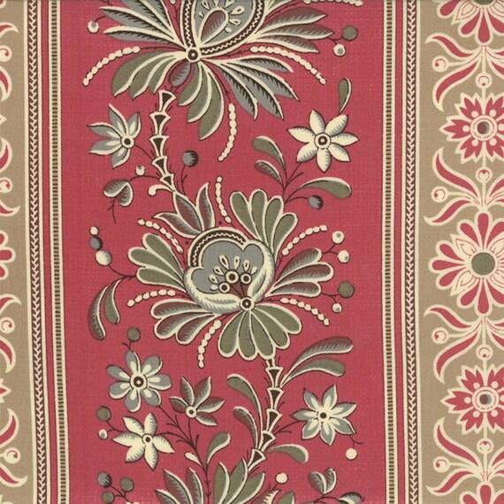La belle fleur stripes rose moda fabrics by for La belle fleur