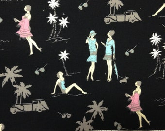 1 yard 100% cotton fabric by Shamash & Sons in Monte Carlo pattern