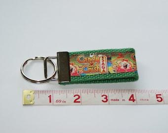 Custom Green Candy Crush Keychain