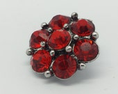 NOOSA Style Bright Red SUPER BLING Rhinestone Snap Charm Noosa Style Chunk Popper Button