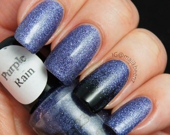 Purple Rain- Fine Glitter Polish