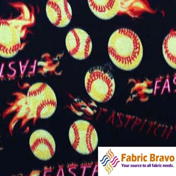baseball fastpitch black anti pill fleece fabric 60 inches. Black Bedroom Furniture Sets. Home Design Ideas
