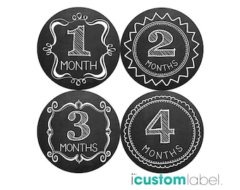 Monthly Baby Milestone Stickers Baby Girl Baby Shower Gift One-Piece Baby Stickers Monthly Baby Stickers Baby Month Sticker