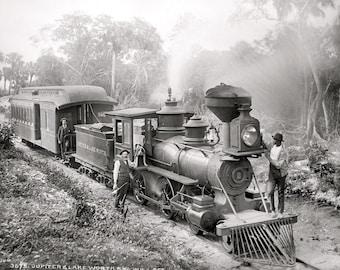 Florida Railroad, Jupiter and Lakeworth R.R. Railway, Train, Locomotive, Steam Train Photo Print