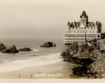 Cliff House- San Francisco- Pacific Ocean-Photo Print