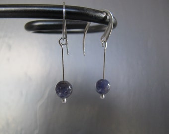 Tanzanite Stainless Steel Earrings