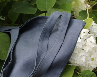 Grey Linen Tote Bag - Daily Tote