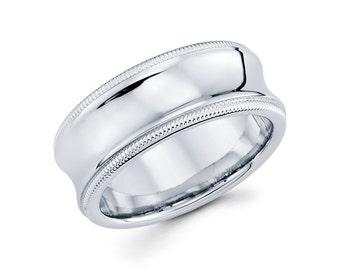 14k White Gold Wedding Band