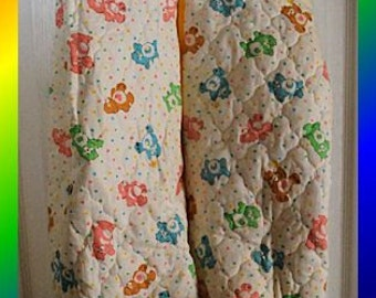 1980's Care Bear Quilted Diaper Hanger
