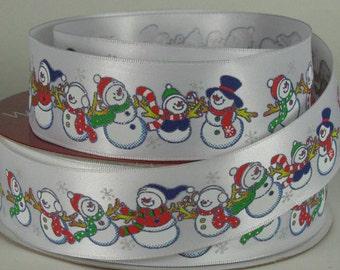 "1 1/2"" Snowman Wire Edged Ribbon"