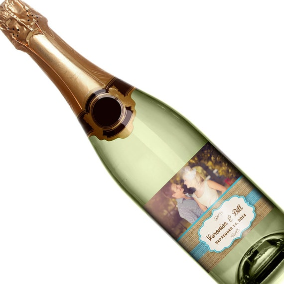 Wedding Champagne Label - Personalized Champagne Label - Custom Champagne Label