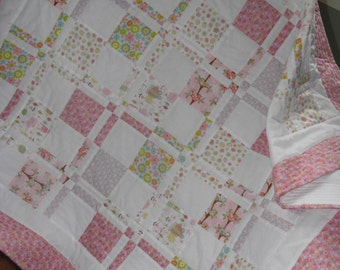 Beautiful Baby / Toddler Girl Quilt/Blanket, Personalized Name Free!