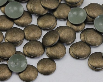 6mm Bronze Metallic Round Hotfix Nailheads Iron On Studs Heat Set Gems - 100 Pieces