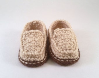 Baby loafers, crochet loafers, casual loafers, beige loafers