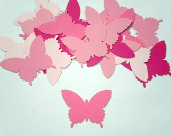 25 Large Mix of PINK paper Butterfly die cuts/  scrapbook embellishments/ Martha Stewart