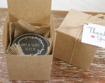 Wedding Favor Tags For Candles : You Favor Boxes - Candle Boxes // Sugar Scrub Boxes- Wedding Favor ...
