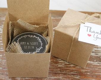 You Favor Boxes - Candle Boxes // Sugar Scrub Boxes- Wedding Favor ...