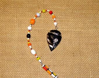 Pendulum #92 - Obsidian Arrowhead