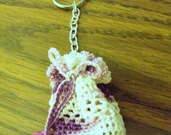 Little keychain bag (variegated lavender)