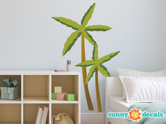 palm trees fabric wall decals comes with 2 palm trees. Black Bedroom Furniture Sets. Home Design Ideas