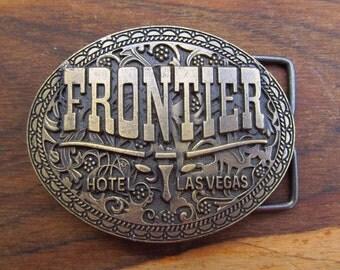 Vintage Metal Frontier Hotel  - Las Vegas Belt Buckle