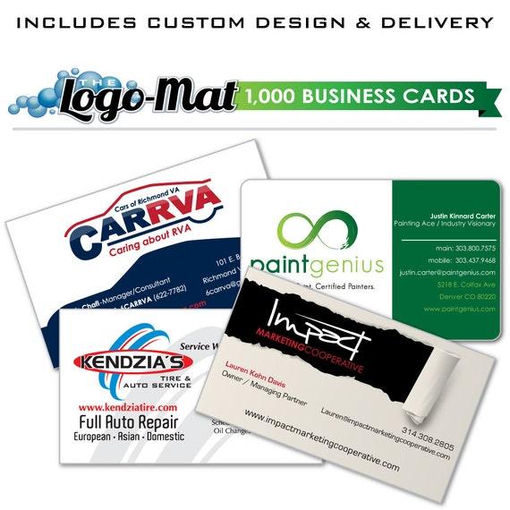 1000 Custom Business Cards Business Card Design Custom