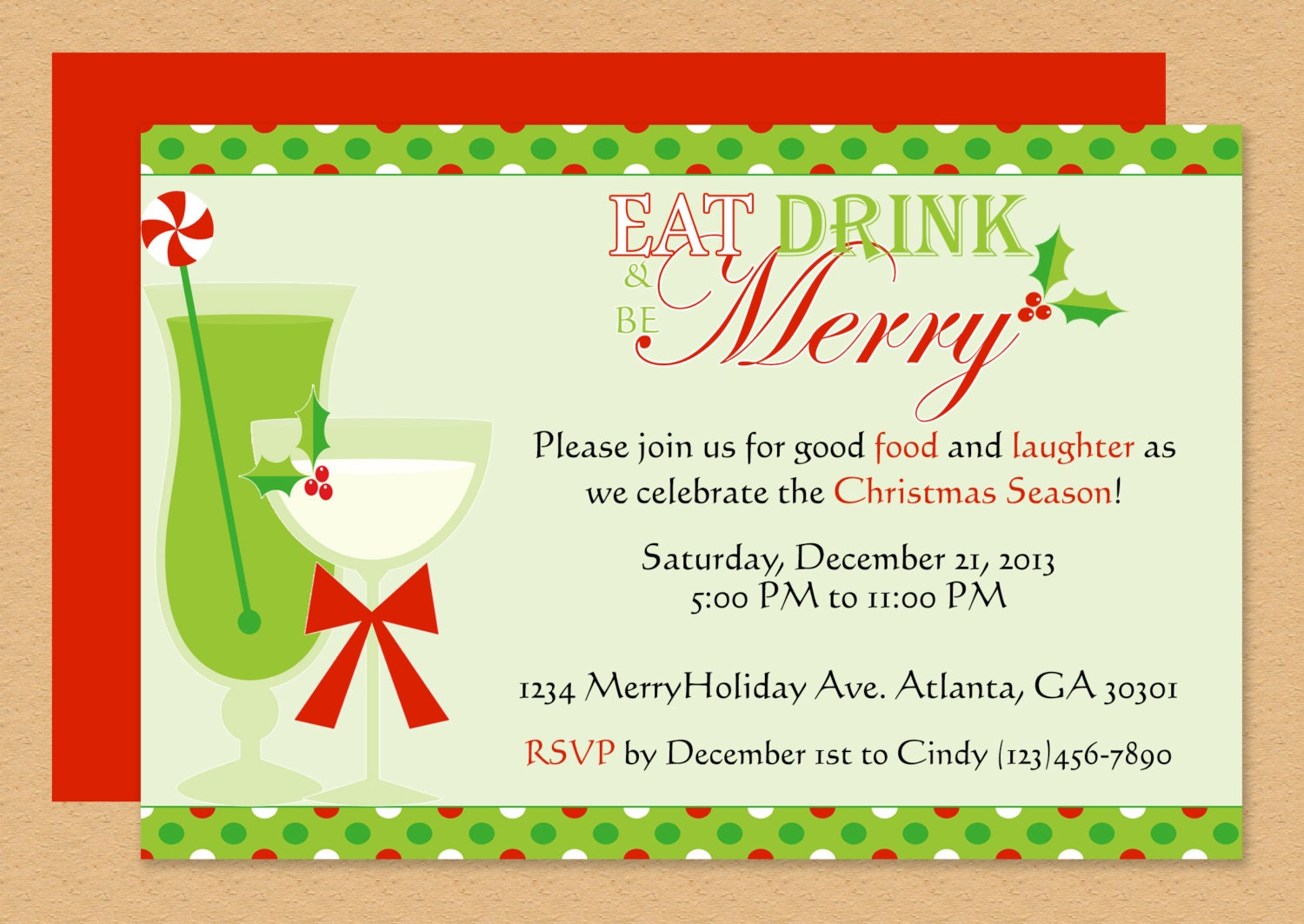 be merry invitation editable template microsoft word