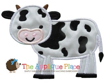 Dairy Cow Applique Design , Instant Digital Download File for Machine Embroidery , 4X4 5X7 6X10 in dst esp hus jef pes sew vip xxx